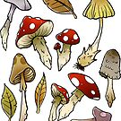 Mushroom Sticker-pack by Elisecv