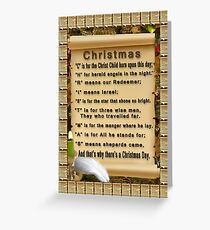Christmas meaning spelled out greeting cards redbubble meaning of c h r i s t m a s card greeting card m4hsunfo Images