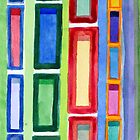 Narrow Frames in Vertical Rows Pattern by Heidi Capitaine