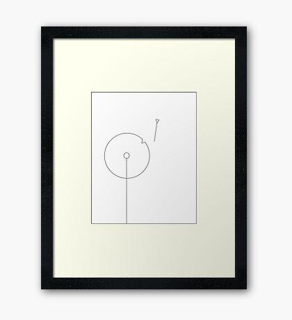 Dandelion v2 Framed Print
