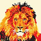 Pixel Art Red Lion by Melisa Fales