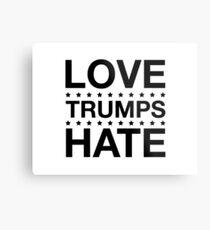 Love Trumps Hate - LoveTrumpsHate - Black Metal Print