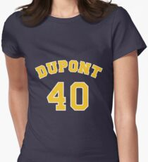 Randy Moss 40 Dupont High School Panthers Basketball  Womens Fitted T-Shirt