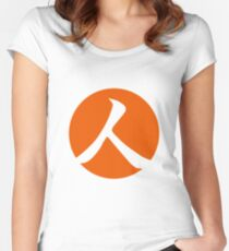 Persimmon Orange Person Women's Fitted Scoop T-Shirt