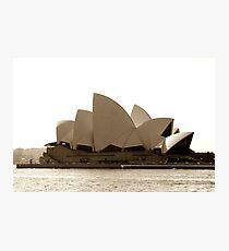 Sydney Opera House in sepia  Photographic Print