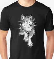 STUCK Husky Grey Unisex T-Shirt