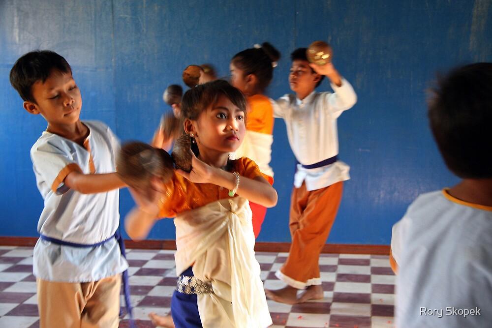 Cambodian dancers near Siem Reap by Rory Skopek