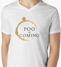 Poo Is Coming Mens V-Neck T-Shirt