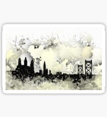 Philadelphia skyline balck and white. Sticker