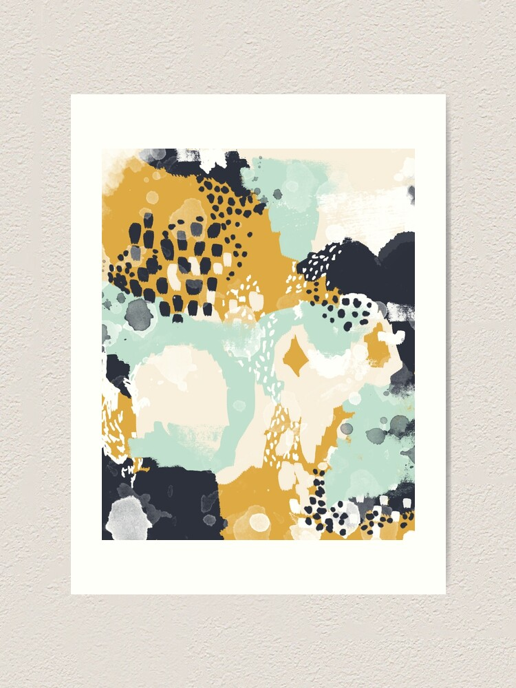 Alternate view of Tinsley - Modern abstract painting in bold, fresh colors Art Print