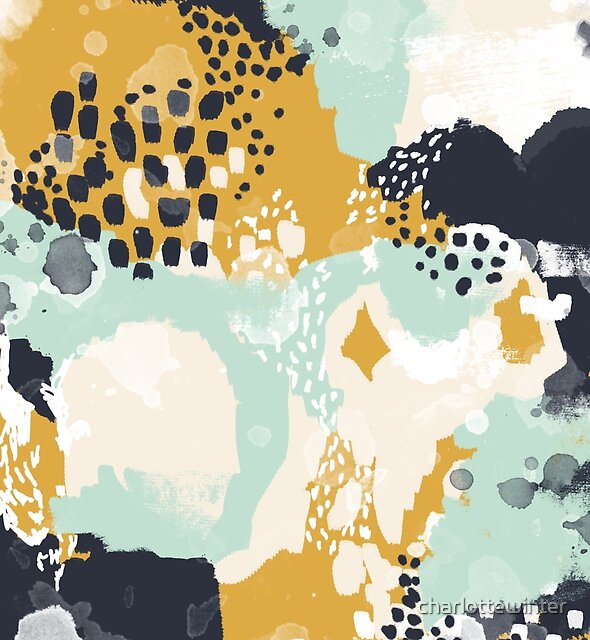 Tinsley - Modern abstract painting in bold, fresh colors by charlottewinter