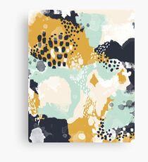 Tinsley - Modern abstract painting in bold, fresh colors Canvas Print