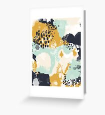 Tinsley - Modern abstract painting in bold, fresh colors Greeting Card