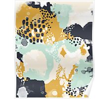 Tinsley - Modern abstract painting in bold, fresh colors Poster