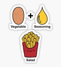 Vegetable + Seasoning = Salad Sticker