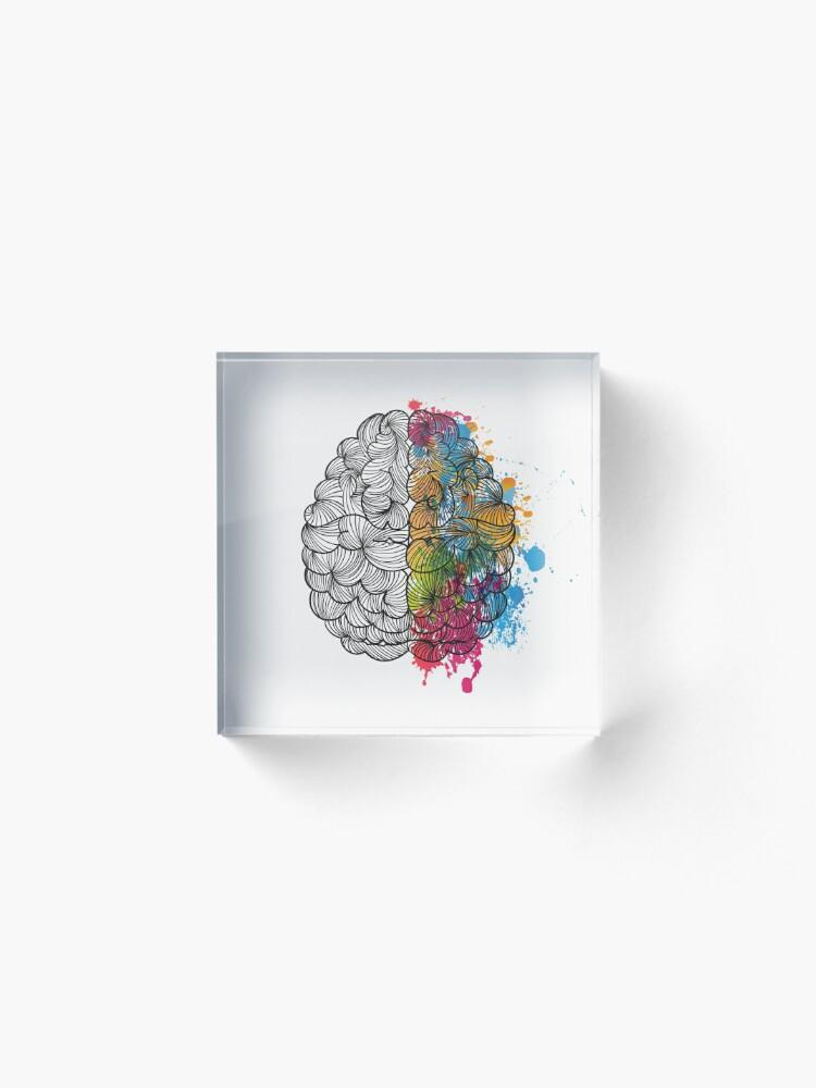 Vista alternativa de Bloque acrílico Mi cerebro