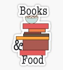 Books and Food - Cereal  Sticker