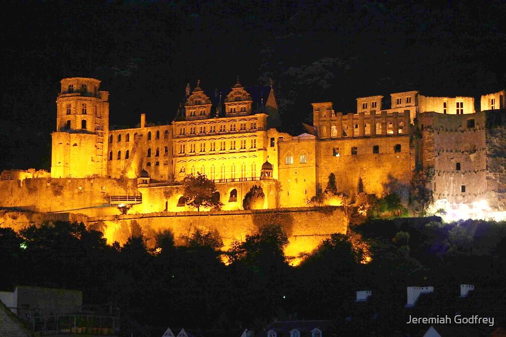 Heidelberg castle at night by Jeremiah Godfrey