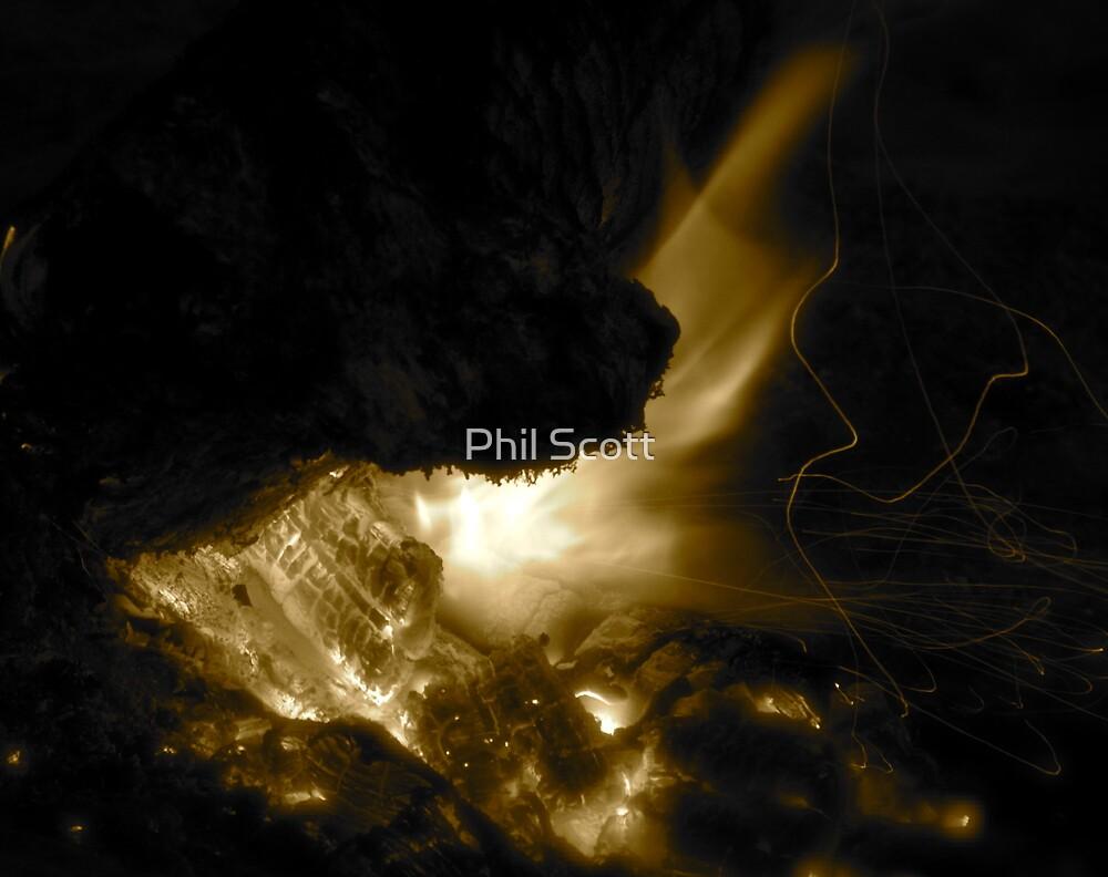 Desert fire by Phil Scott