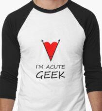 I'm Acute Geek - A Cute Nerd  Metaphor Design Men's Baseball ¾ T-Shirt