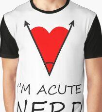 I'm Acute Nerd - A Cute Nerd  Metaphor Design Graphic T-Shirt