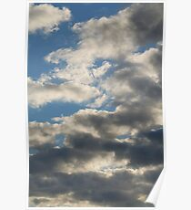 Grey Clouds on the Sky Poster