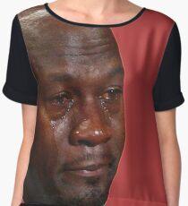 Crying Jordan Chiffon Top