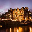Canal houses architecture in Amsterdam by pljvv