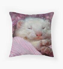 Snoozing Ferret Throw Pillow