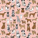 Hunde Hunde Hunde - Rosa Hintergrund von Andrea Lauren