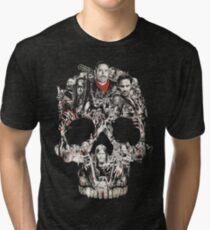 TWD Skull Cast Tri-blend T-Shirt