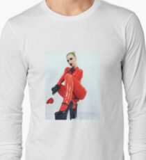 Miss Beyla Hughes Latex Leder PVC Model Cosplay  Long Sleeve T-Shirt