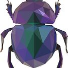 Lowpoly Purple Beetle by Mariewsart
