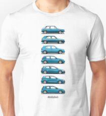 Volkswagen Golf 1-7 GTi (light blue) Unisex T-Shirt