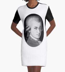 The genius Wolfgang Amadeus Mozart Graphic T-Shirt Dress