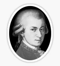 The genius Wolfgang Amadeus Mozart Sticker