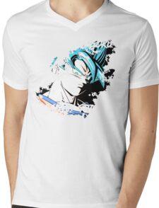 GOKU SUPER SAIYAN BLUE GOD - DRAGON BALL SUPER Mens V-Neck T-Shirt