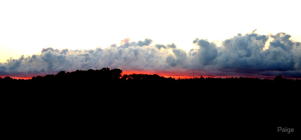 Sunset over Ostergotlands by Paige
