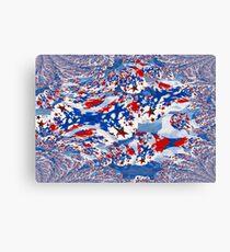 Tri-Color Stars &Swirls  Canvas Print