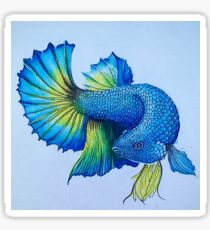 Blue Fish Swimming In The Sea Sticker
