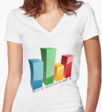 Statistics Women's Fitted V-Neck T-Shirt