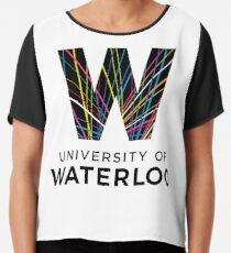 University of Waterloo Logo Chiffon Top