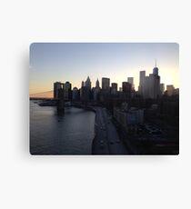 Manhattan to Brooklyn Canvas Print
