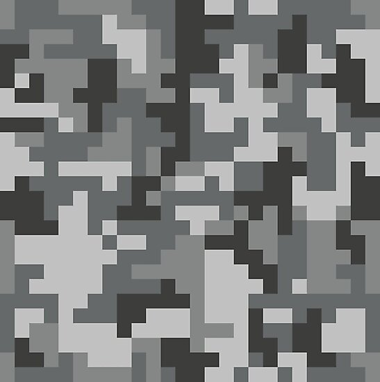 Urban Grey Pixel Camo Pattern Photographic Prints By PRODUCTPICS Unique Camo Pattern