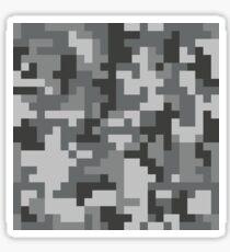 Urban Grey Pixel Camo Muster Sticker