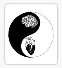 Yin Yang/Heart and Mind Sticker