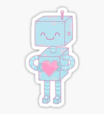 Valentine's Day Robot Sticker