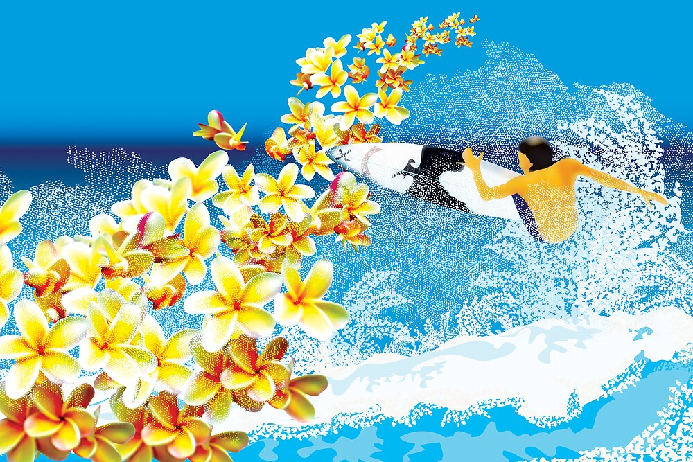 Surfs Up with Flowers by Dan Marshall