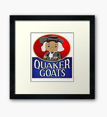 Quaker Goats!  Framed Print
