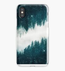Snowy Surreal Forest iPhone Case
